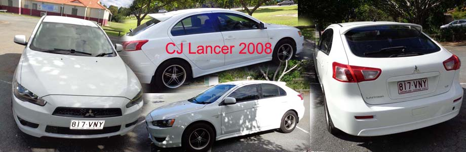 Mitsubishi Lancer CJ VR 2008, available for Rent or Purchase.
